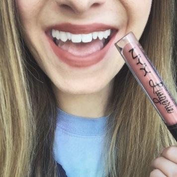 nyx lingerie liquid lipstick ruffle trim