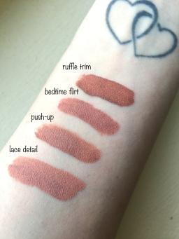 nyx lingerie liquid lipstick swatch