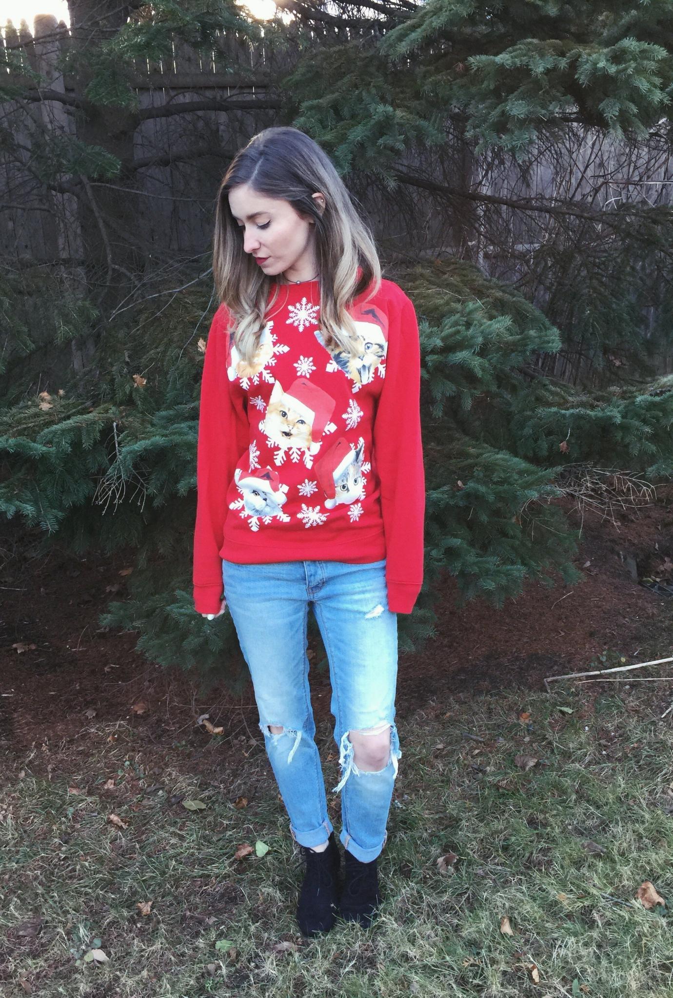 blogmas ugly christmas sweater