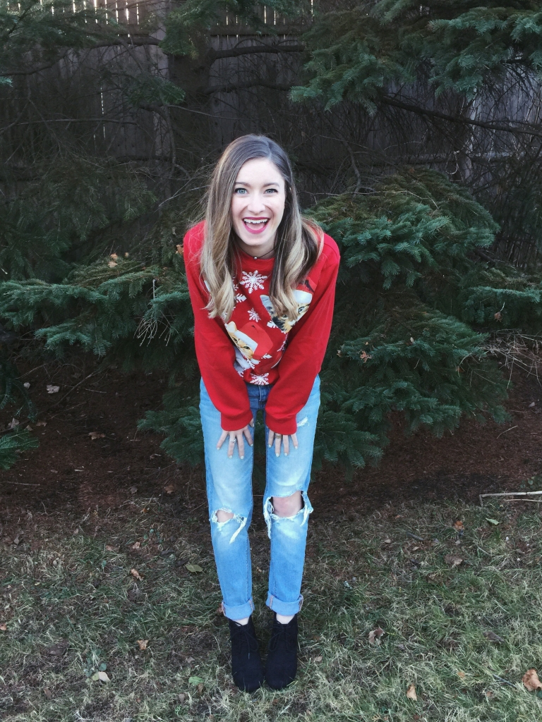 ootd ugly sweater