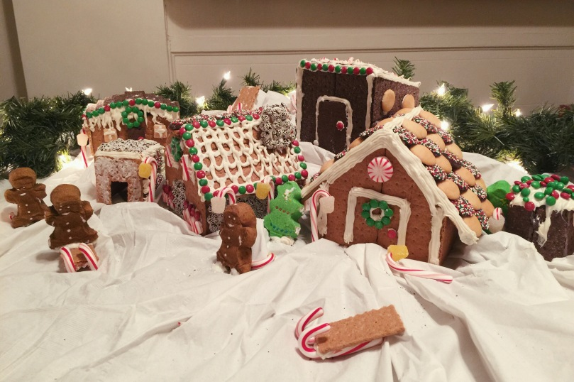 gingerbread village blogmas