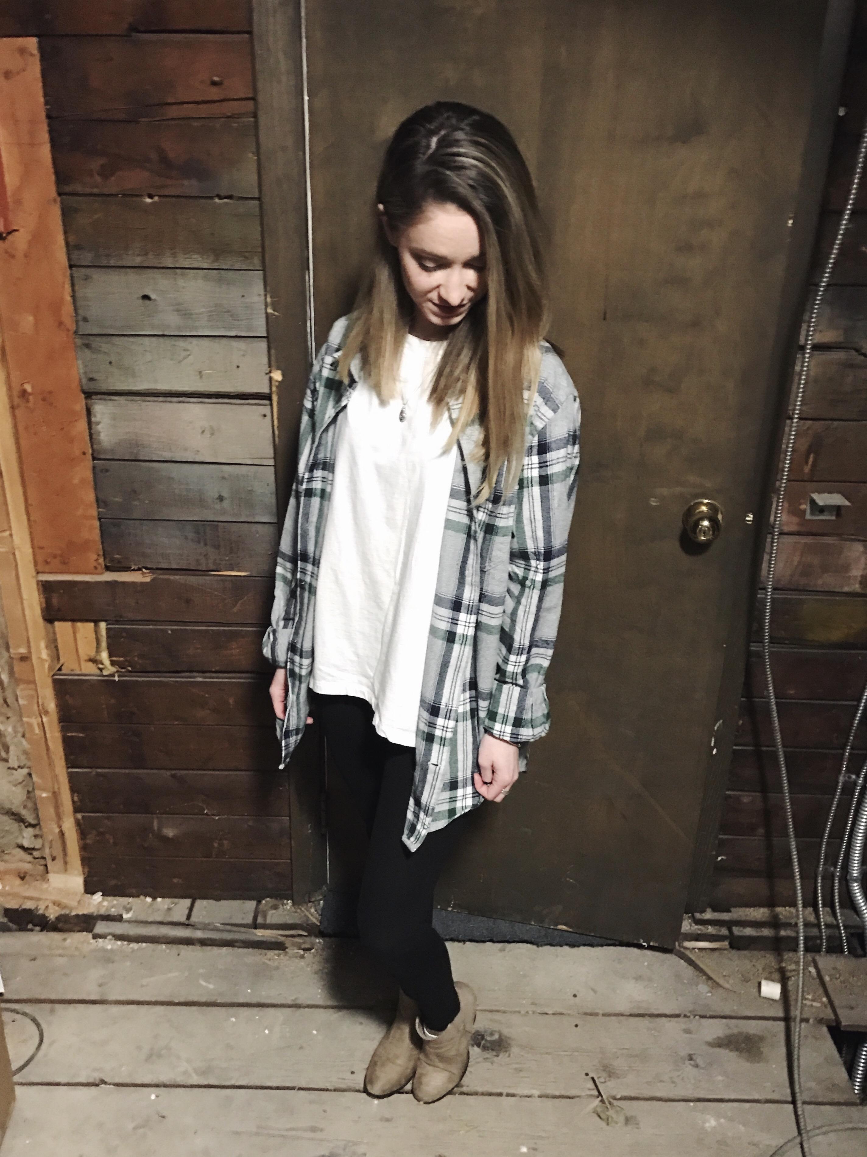 boyfriend flannel ootd