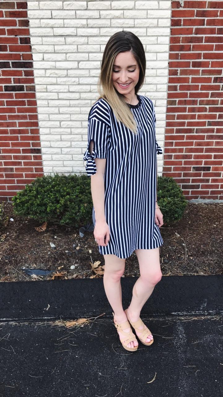 ootd striped dress