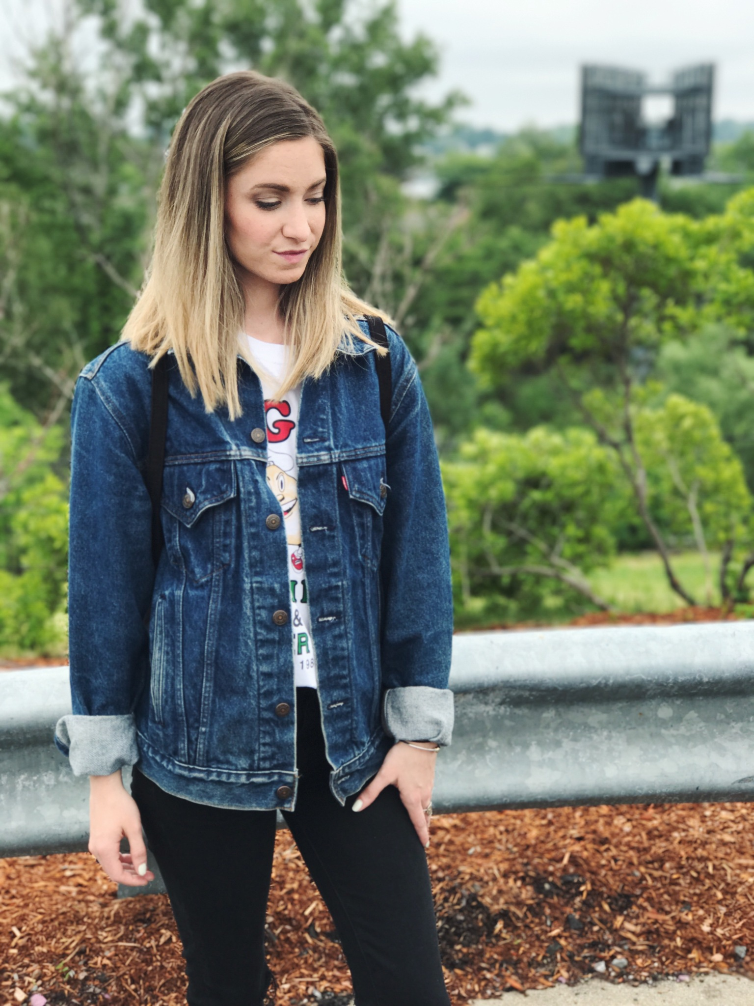 what I wore denim jacket