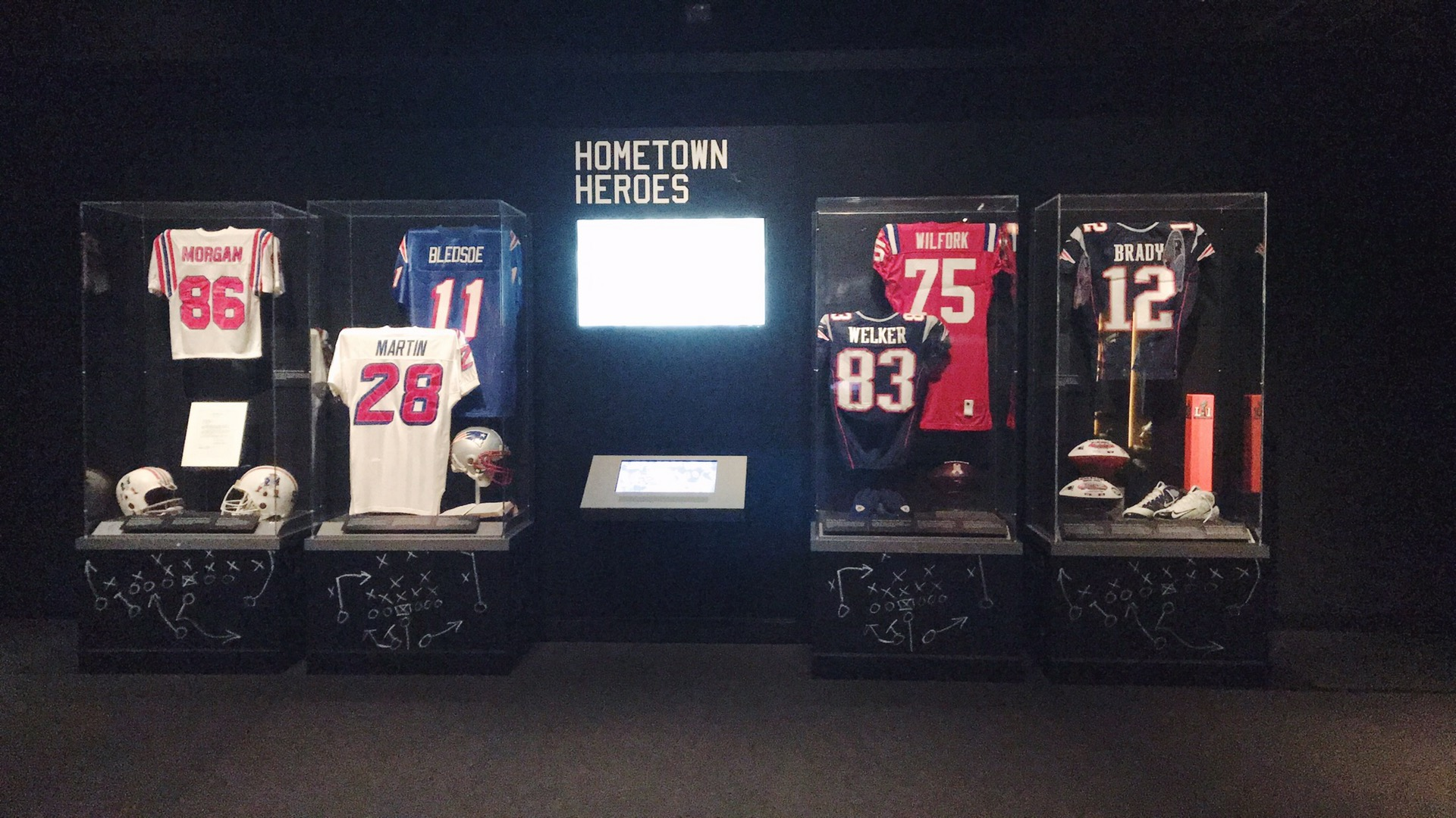 Pro-football hall of fame exhibit