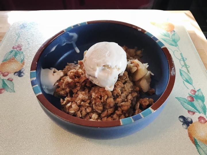 making apple crisp blog