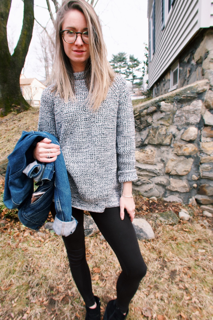 jean jacket sweater outfit