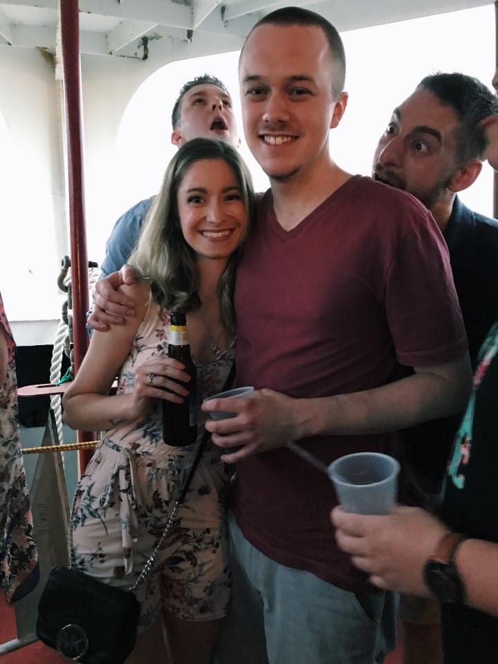 couple booze cruise