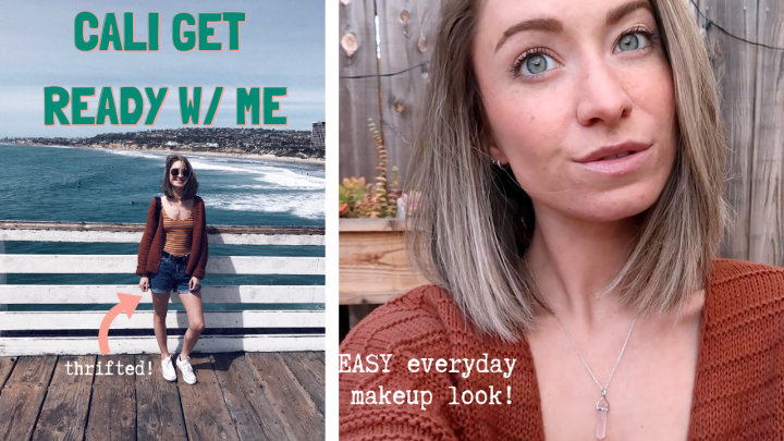 CALI GET READY WITH ME | EVERYDAY MAKEUP & OUTFIT